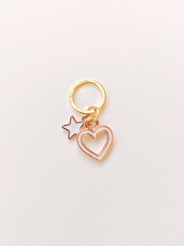 Coeur et étoile blancs