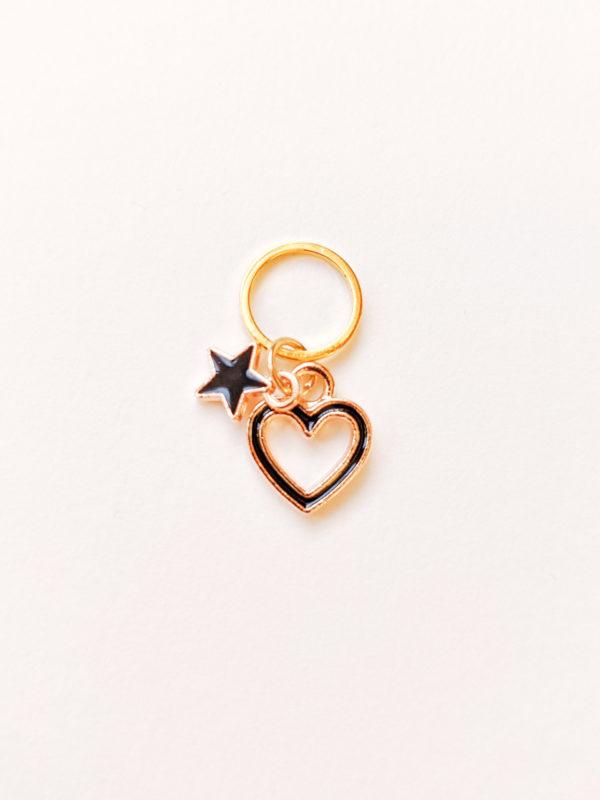Coeur et étoile noirs