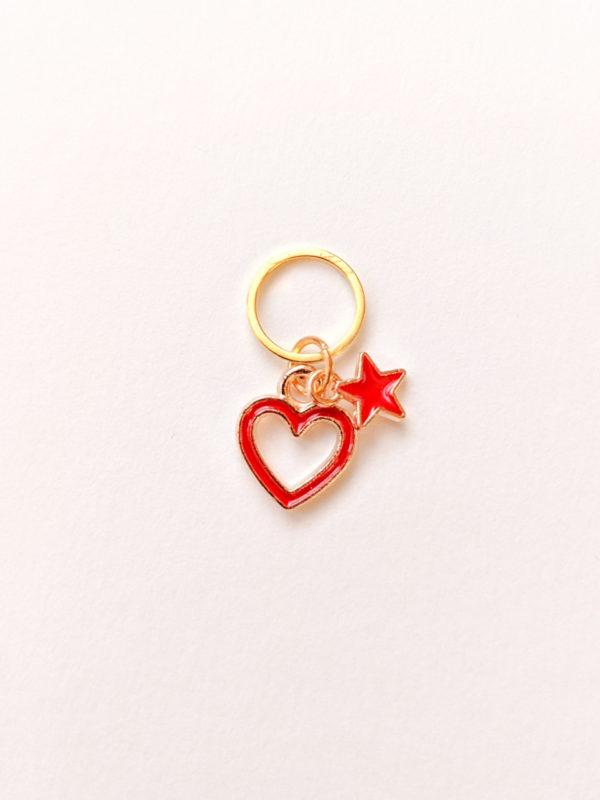 Coeur et étoile rouge