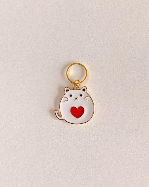 Chats cœur blanc
