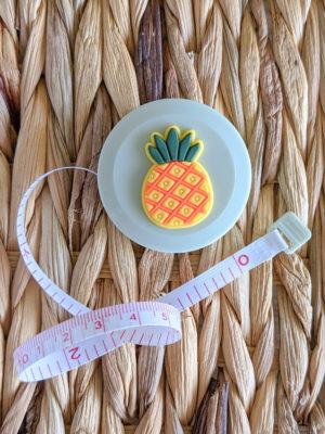 Mètre couturière, motif Ananas