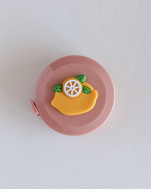 Mètre couturière, motif Citron